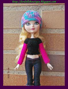 Jersey y gorro para muñecas Monster H. & Ever dolls (handmade High quality clothes) de Fordollsboutique en Etsy