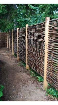 Hazel hurdles make excellent fence panels. They have a lovely natural look.  http://www.avsfencing.co.uk/fencing/fence-panels