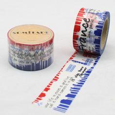 Travel, Vacation & Holiday Postcards Washi Tape | France, Eiffel ...