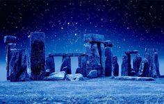 Stonehenge At Night, England