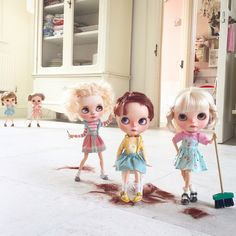 Mummy look ! Maisy's ever so clever  at cutting hair! | by Dollytreasures