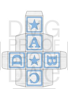 Printable ABC Baby Block Template 2x2 by DolceMeeyahDesigns