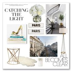 """Catching the light"" by victoriav ❤ liked on Polyvore featuring interior, interiors, interior design, home, home decor, interior decorating, Oliver Gal Artist Co., WALL, Rosanna and Diane James"