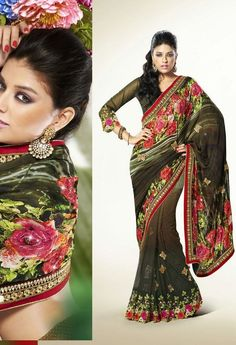 Partywear Designer Saree Made With Satin & Net 9310