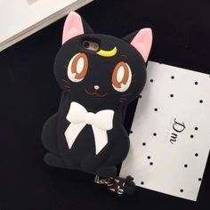 Sailor-Moon-Cat-Silicone-Case-Cover-with-Dust-Plug-for-iPhone-6-6S-Plus-C0285