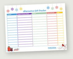 A holiday gift tracker for those who want to give meaningful gifts from the heart