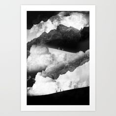 Mysterious mountains in the background and clouds on the top. A girl and a boy…