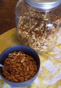 Homemade honey puff cereal mmmm :)(: Homemade cereal... will adapt for GAPS