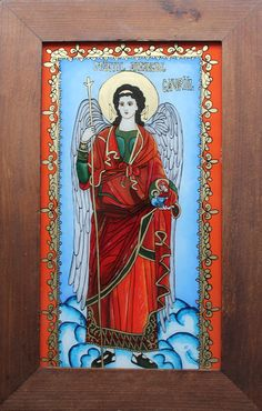 Byzantine Icons, Saints, Angels, Glass, Painting, Drinkware, Angel, Corning Glass, Painting Art