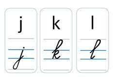 Alfabet : Schrijf- en leesletters - Downloadbaar lesmateriaal - KlasCement Pre Writing, Scandal Abc, Diy For Kids, Spelling, School, Art, Learning, Writing Fonts, Games