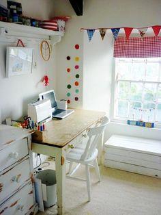 Folksy seller Kirsty Elson's studio