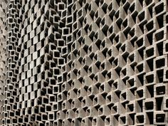 Archi-Union Office and Exhibition Space, Shanghai, Archi-Union Architects, 2010. Detail of parametrically-constructed CMU wall.