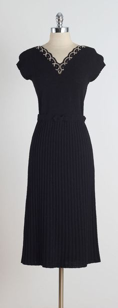1950's 'Two Harbours' Wool Boucle Dress