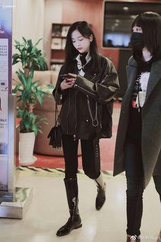 Yuehua Entertainment, Starship Entertainment, Airport Fashion, Airport Style, Xuan Yi, Cheng Xiao, Cosmic Girls, Girl Group, Punk