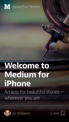 Medium launches iPhone app for reading stories on the go. #mobile #apps #iPhone