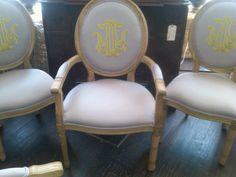 Number Four Eleven: Monogrammed Dining Room Chairs