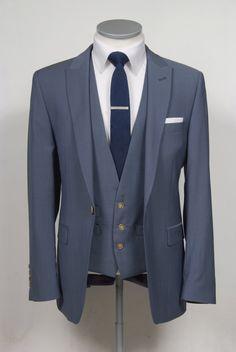 Petrol blue lightweight wool & mohair lounge suit. An Italian light…