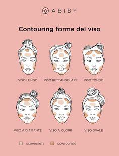 Ecco come realizzare il contouring in base alla forma del vso Makeup On Fleek, Makeup Inspo, Makeup Inspiration, Makeup Tips, How To Wear Makeup, Make Up Tricks, Eye Makeup Steps, Beauty Make Up, Natural Makeup