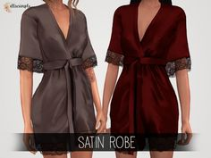 Elliesimple - Satin Robe - Los Sims 4 Descarga - SimsDom
