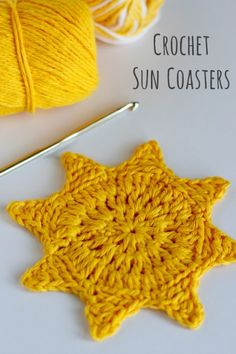 Crochet Sun Coasters Free Pattern @Linda Norris Rasowsky and Takes