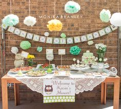 {BABY SHOWER} Mint Owl Theme | Life & Baby | Baby Showers : Parties : Nurseries : Baby Products : Baby Deals