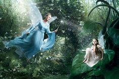 Abigail Breslin as Fira and Julie Andrews as the Blue Fairy, by Annie Leibowitz