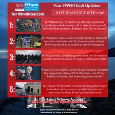 Welcome to your #weekend #WNNtop5 stories bringing you the latest breaking news updates from #WNewsNetwork