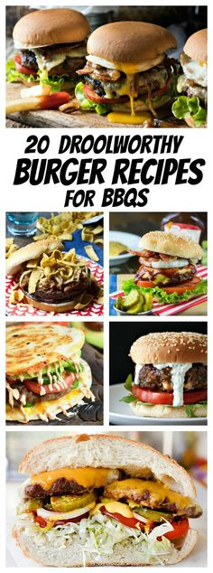 chicken breastrecipes easy 20 Droolworthy Burger Recipes for BBQs grilling recipes;grilling recipes v Bun Burger, Beef Burgers, Pizza Burgers, Healthy Grilling Recipes, Beef Recipes, Cooking Recipes, Grilled Hamburger Recipes, Easy Burger Recipes, Pub Burger Recipe