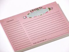 These 4x6 inch double-sided recipe cards are covered in cute flip flops and sold as a set of 100! Description from etsy.com. I searched for this on bing.com/images