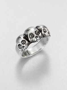 King Baby Studio Triple Skull Ring