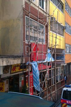 Bamboo building scaffold, evident all over hong kong!