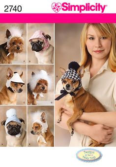 2740 - Crafts - Dog Bonnets In Three sizes *OOP*