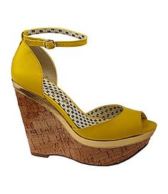 Jessica Simpson Keira Cork Wedge Sandals #Dillards