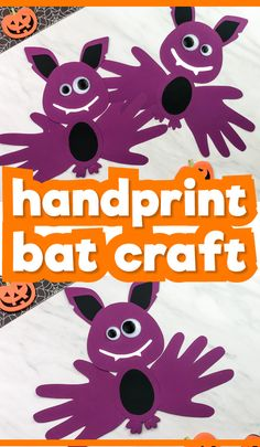 This easy handprint bat craft for kids is a fun and simple Halloween activity for children of all ages from toddlers, to preschool, pre k and kindergarten! It comes with a free printable template so it's easy to make at home or at school. Toddler Arts And Crafts, Halloween Arts And Crafts, Theme Halloween, Halloween Crafts For Kids, Halloween Treats, Halloween Crafts For Kindergarten, Fall Toddler Crafts, Halloween Classroom Door, Halloween Bulletin Boards