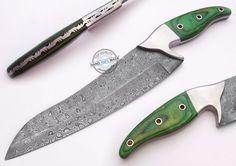 12.00  Custom hand made beautiful Damascus steel Chef Kitchen Knife (AA-0020-25)