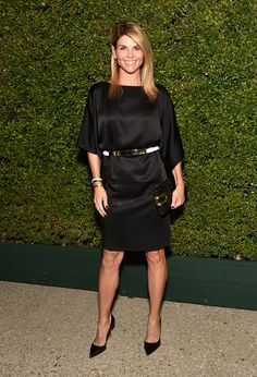 Lori Loughlin attends Claiborne Swanson Frank's Young Hollywood book launch hosted by Michael Kors at Private Residence on October 2014 in Beverly Hills, California. Modest Dresses, Dresses For Work, Daniel Lissing, Lori Loughlin, Full House, Celebs, Celebrities, Beautiful Actresses, Supermodels