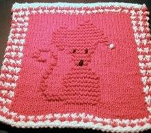 Mischievous Mouse Dishcloth Pattern