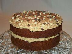 Torta al cioccolato con crema al caffè, come presentarla - Pan di Spagna al cacao con crema al caffe'