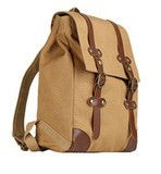Vintage Canvas & Leather Backpack Unisex