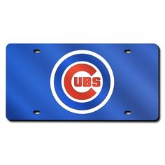 Chicago Cubs MLB Laser Cut License Plate Cover