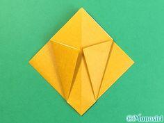 折り紙で花瓶の折り方手順11 Cards, Maps, Playing Cards
