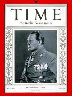 TIME Magazine Cover: Hermann Göring - Aug. 21, 1933 - Hermann Goring - World War I - Aviation - Germany