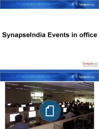 SynapseIndia Events in Office