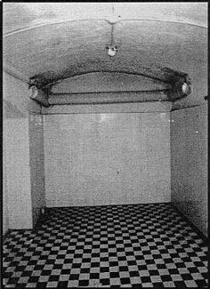 Original T-4 gas chamber at Hadamar Psychiatric Hospital.
