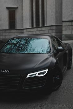 Matte black R8 by @aaltomotive  •  #car #cars #luxury #Audi