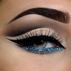 """""""Icy blue  #makeup #glam #cosmetics #cute #beauty"""""""