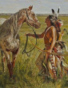 native american indians Companion by Kim Monahan kp Native American Horses, Native American Warrior, Native American Paintings, Native American Pictures, Native American Wisdom, Native American Artists, Native American History, Indian Paintings, American Indians