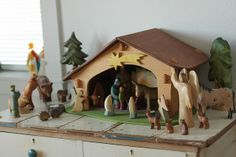 Our Nativity (Little L added the boy next to Mary) by Frontier Dreams, via Flickr