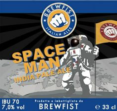 SPACE FRONTIER: fruit IPA, abv 6,5%. Prodotta in collaborazione con il birrificio danese To O1. IndiAN Pale Ale prodotta con mosto d'uva, si presenta color, giallo pallido, con schiuma candida. Al naso emerge la luppolatura con note floreali , fruttate  da pesca bianca, tropicali, agrumate e leggermente balsamiche. l'amaro è riempito da freschezza di uva bianca e un finale secco con presenza cereale ad equilibrare.