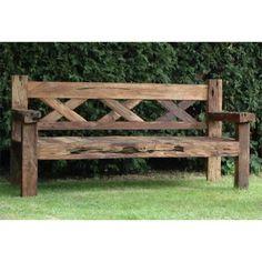 Reclaimed Teak Rustic Bench